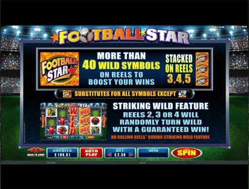 Football Star slot Bonus