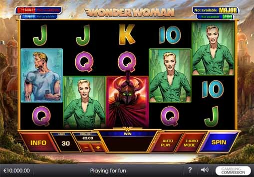 Wonder Woman Slot Reels