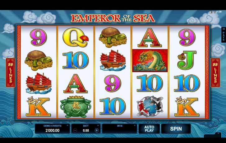 Emperor of the Sea slot Reels