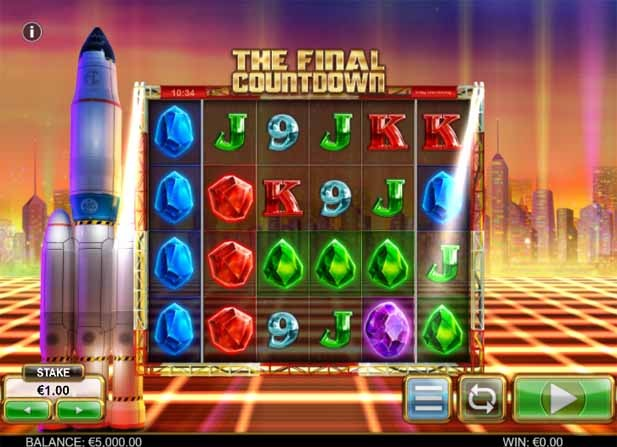 The Final Countdown slot reels