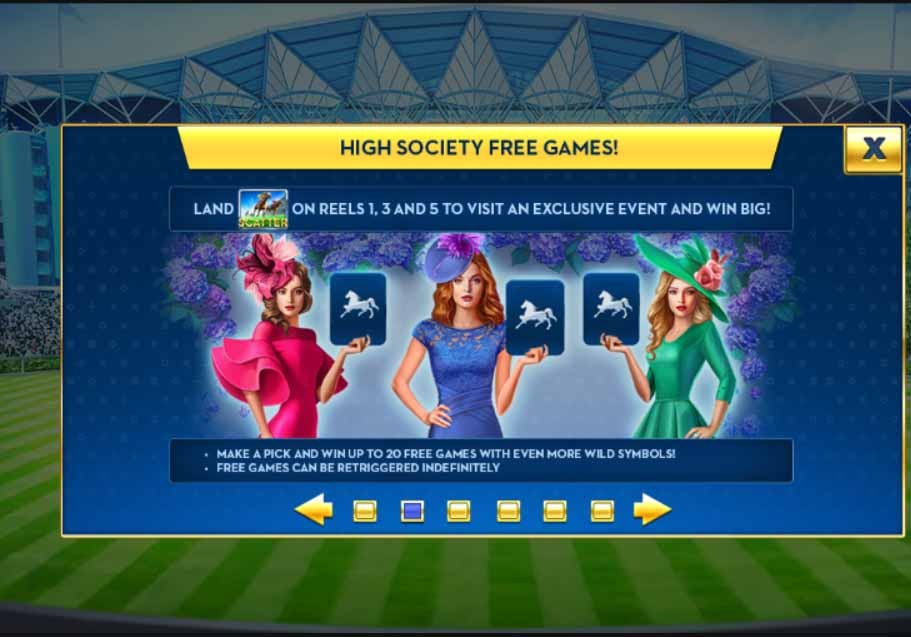 Ascot Sporting Legends Slot Bonus