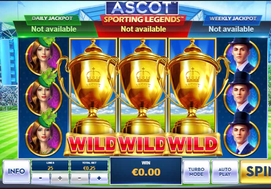 Ascot Sporting Legends Slot Reels