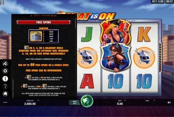 The Heat Is On Slot Bonus
