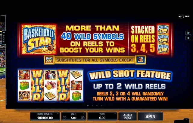 Basketball Star Slot Paytable