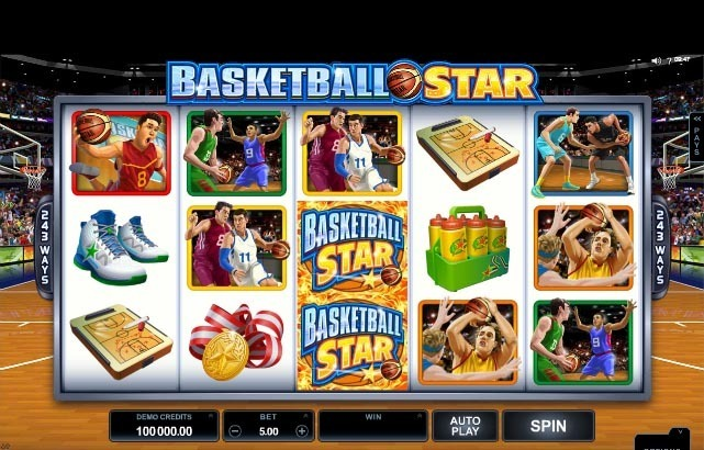 Basketball Star Slot Reels